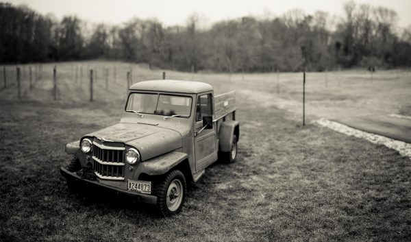 old truck at the farm
