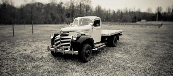 classic truck on a farm