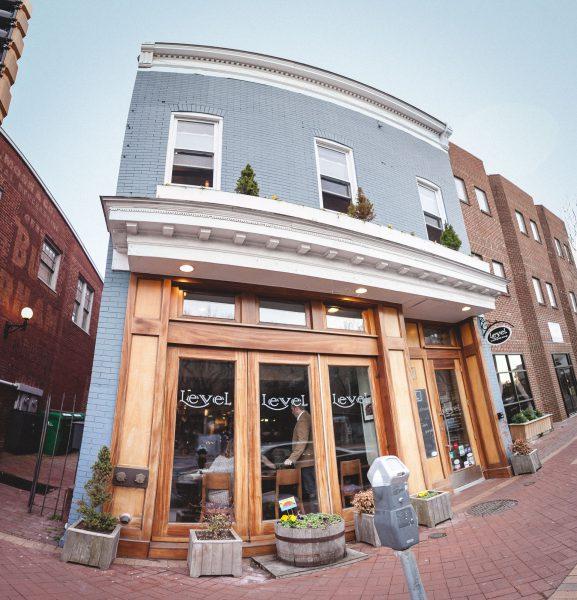 fisheye of restaurant store front